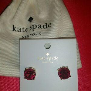 Authentic Kate Spade Fuchsia Pink Gumdrop Earrings